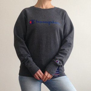 Champion - Charcoal Crew Neck Sweater
